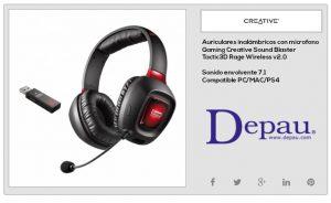 Auriculares Gaming para PS4 inalámbricos