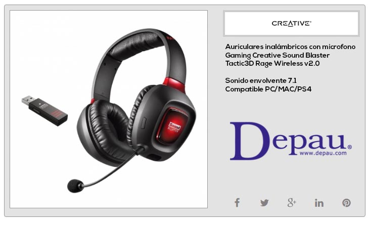 Auriculares Gaming Inal 225 Mbricos Pc Mac Y Ps4 Creative