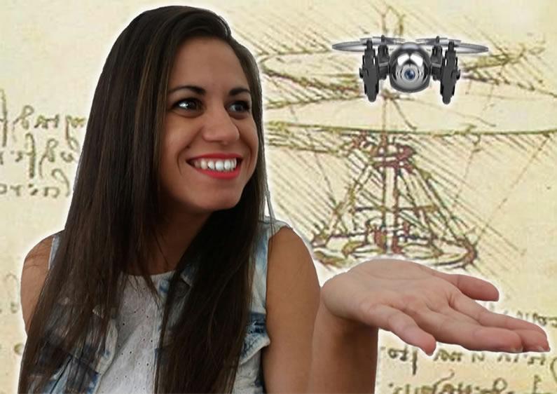 Dron juguete volando