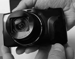 Camaras digitales en la palma de la man